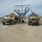 Image of Oil exploration vehicles